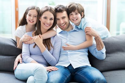 Family with Healthy First Chakra