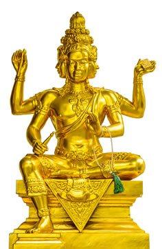 Statue of Hindu God Brahma