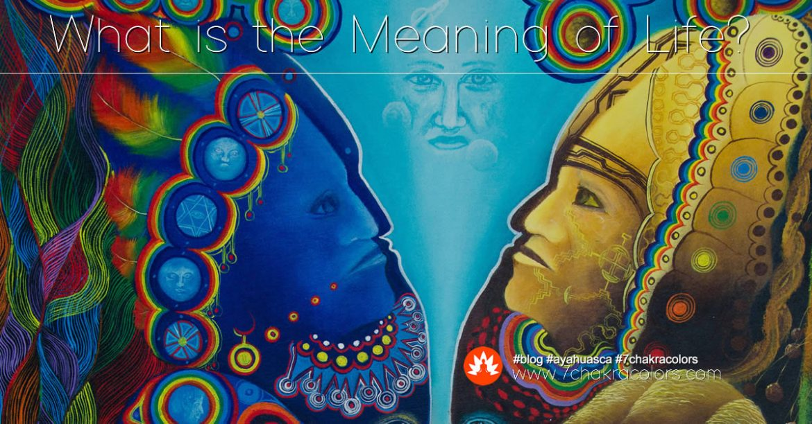 What is the Meaning of Life? Blog Post. Image of Two Peruvian Shamans.