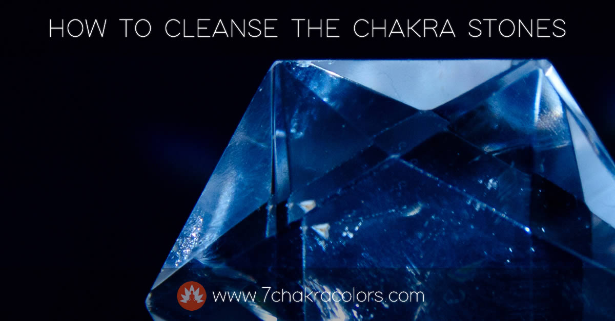 Cleansing the Chakra Stones
