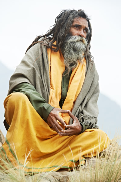 Spiritual Development of the First Chakra - Sadhu in Meditation