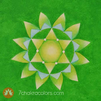 Heart Chakra Symbol - Green Color