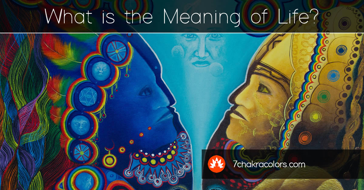 What is the Meaning of Life - Duality Shamans Painting