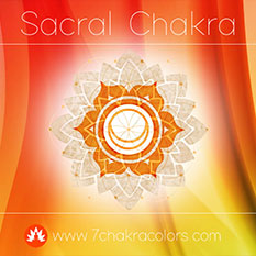 Sacral Chakra Orange Color Symbol - Thumbnail
