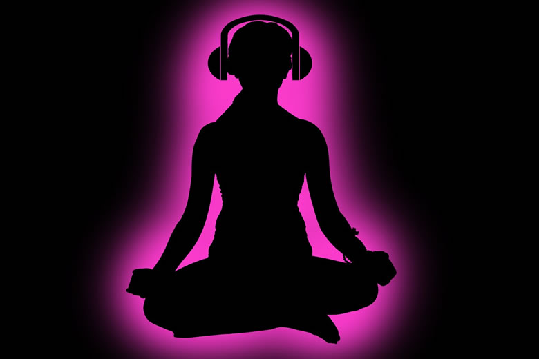 meditation-music-background-silhouette