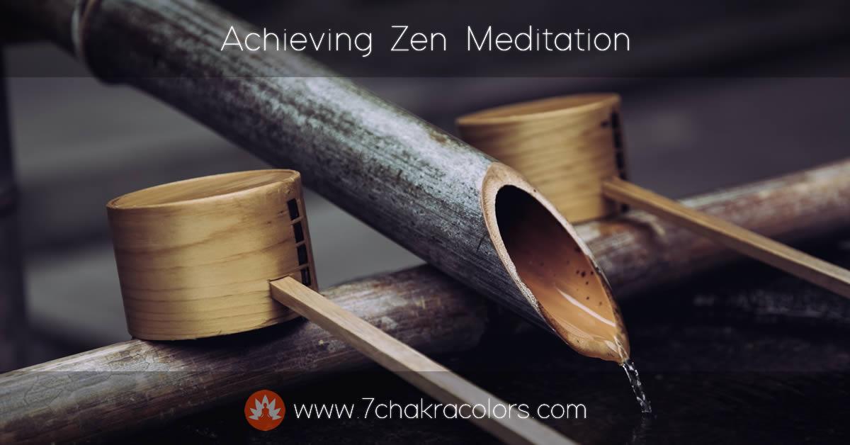 Achieving Zen Meditation - Featured Canvas Image