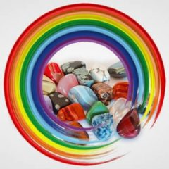 Chakra Stones in Chakra Colors Rainbow Circle