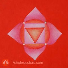 Root Chakra Symbol - Red Color