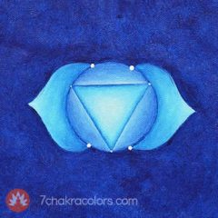 Third Eye Chakra Symbol - Indigo Color